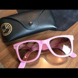 Purple Ray Ban sunglasses
